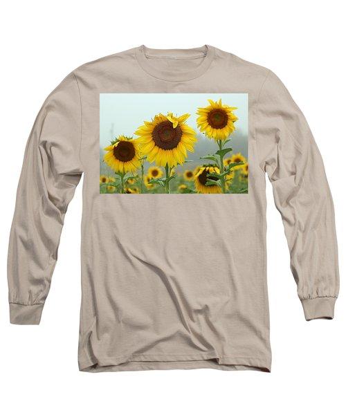 Three Amigos In A Field Long Sleeve T-Shirt by Karen McKenzie McAdoo