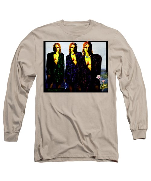 Three  Beautiful Triplet Ladies Long Sleeve T-Shirt by Hartmut Jager