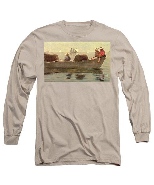 Three Boys In A Dory Long Sleeve T-Shirt