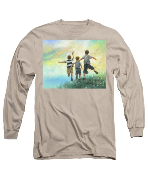 Three Brothers Leaping Long Sleeve T-Shirt
