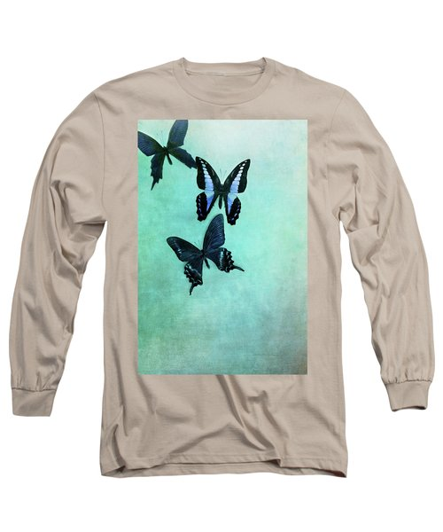 Three Butterflies Long Sleeve T-Shirt