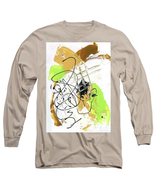 Long Sleeve T-Shirt featuring the painting Three Color Palette by Michal Mitak Mahgerefteh