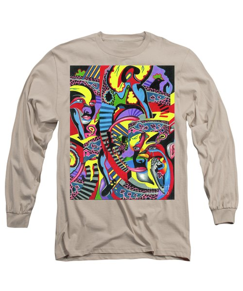 Three Disguises Of An Abstract Thought Long Sleeve T-Shirt
