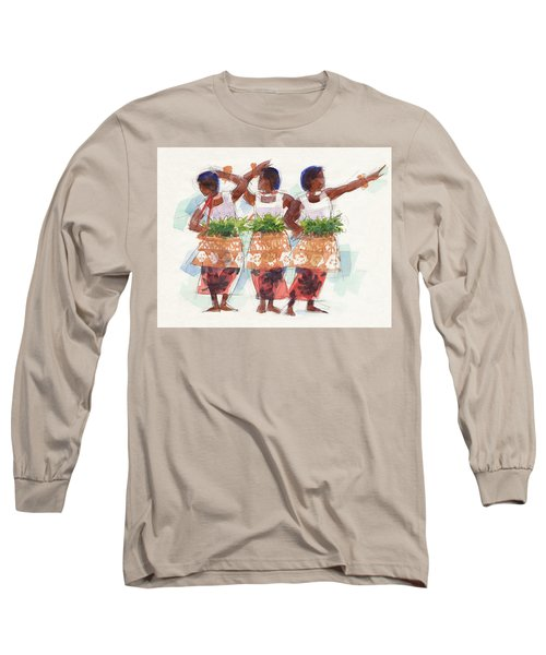 Three Fijian Dancers Long Sleeve T-Shirt