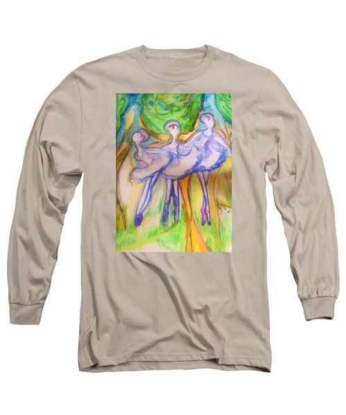 Three Magical Birds Long Sleeve T-Shirt
