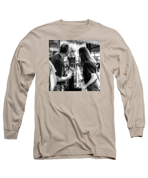 Three Men On A Sidewalk Long Sleeve T-Shirt