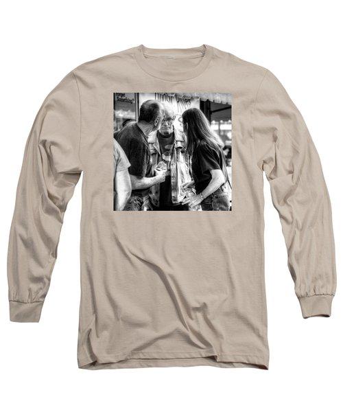 Three Men On A Sidewalk Long Sleeve T-Shirt