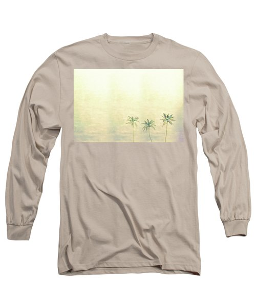 Three Palms In Color Long Sleeve T-Shirt