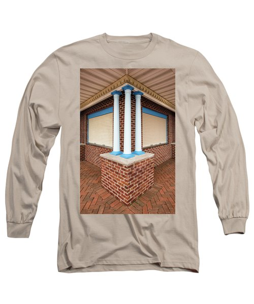Three Pillars At The Refreshment Stand Long Sleeve T-Shirt by Gary Slawsky
