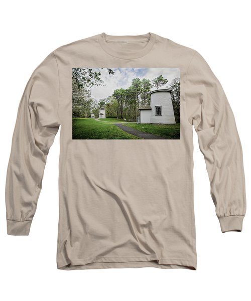 Three Sisters Lighthouses Long Sleeve T-Shirt by Patrice Zinck
