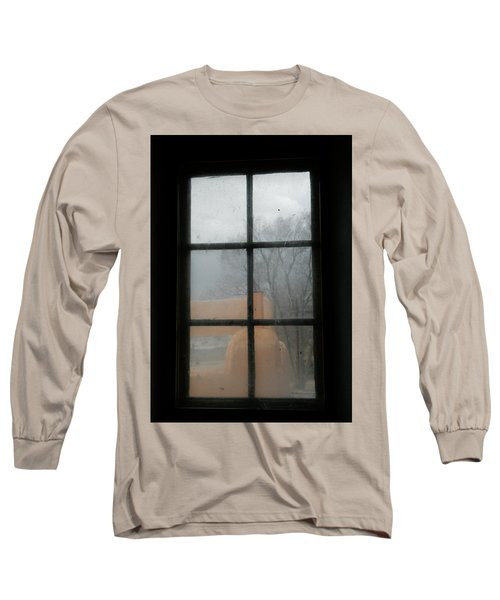 Long Sleeve T-Shirt featuring the photograph Through A Museum Window by Marilyn Hunt