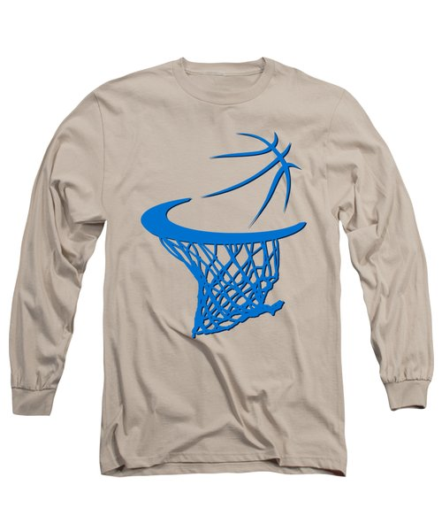 Thunder Basketball Hoop Long Sleeve T-Shirt