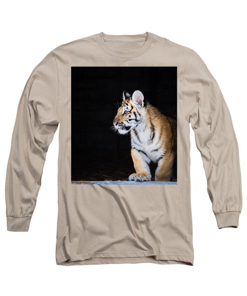Tiger Cub Long Sleeve T-Shirt by Serge Skiba