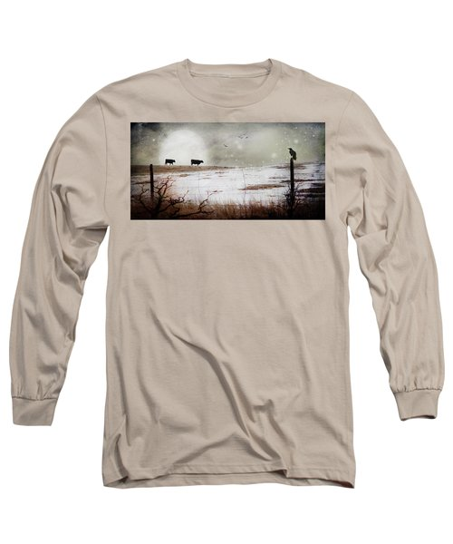 Long Sleeve T-Shirt featuring the photograph 'til The Cows Come Home by Theresa Tahara