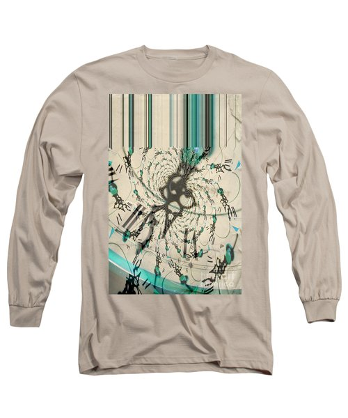 Time Ticking To The New Year Long Sleeve T-Shirt by Donna Bentley