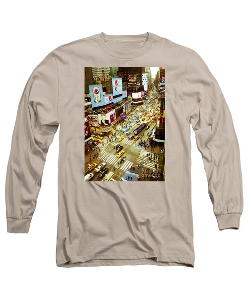 Times Square Traffic Long Sleeve T-Shirt by Perry Van Munster