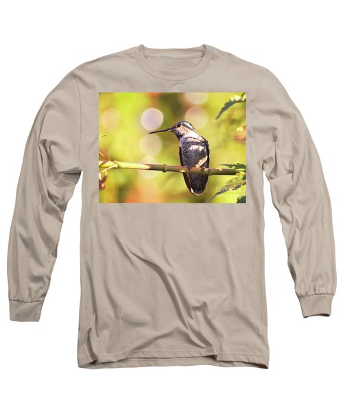Tiny Bird Upon A Branch Long Sleeve T-Shirt