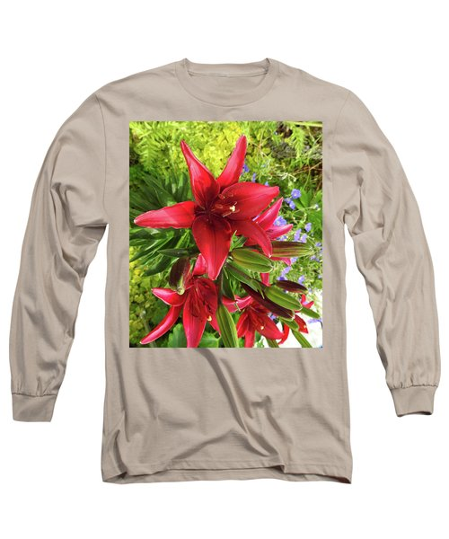 Tiny Ghost Asiatic Lilly Long Sleeve T-Shirt