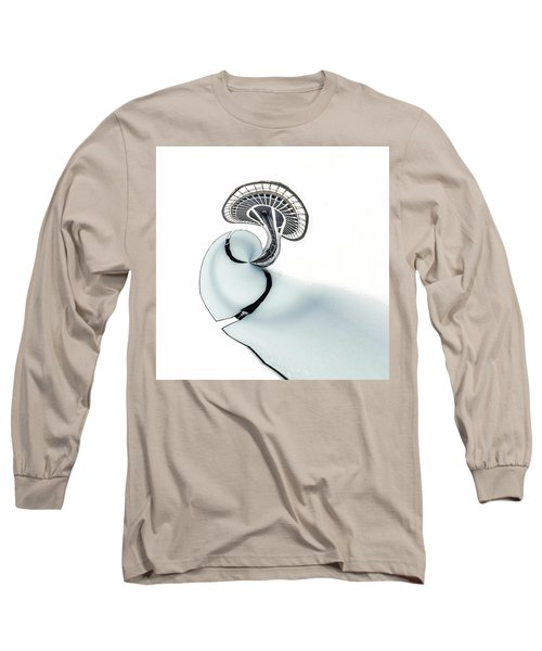 Long Sleeve T-Shirt featuring the photograph Tinyplanet Space Needle by Wade Brooks