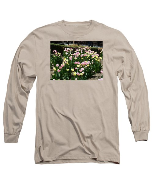 Long Sleeve T-Shirt featuring the photograph Tiptoe Through The Tulips by Helen Haw