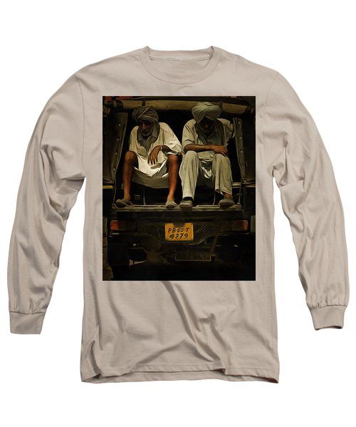 Long Sleeve T-Shirt featuring the digital art Tired Life  by Bliss Of Art