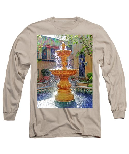 Tlaquepaque Fountain In Sunlight Long Sleeve T-Shirt