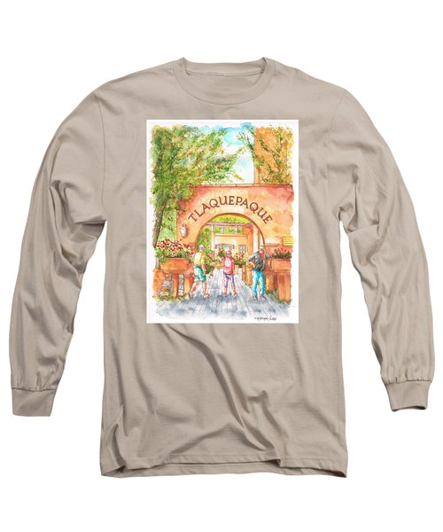 Tlaquepaque Gallery In Sedona, Arizona Long Sleeve T-Shirt by Carlos G Groppa