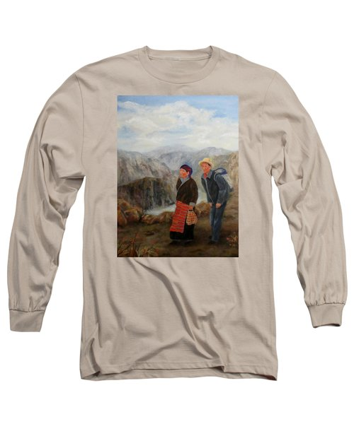 Long Sleeve T-Shirt featuring the painting To Market by Roseann Gilmore
