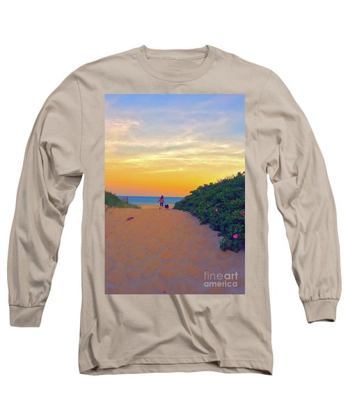 To The Beach Long Sleeve T-Shirt by Todd Breitling