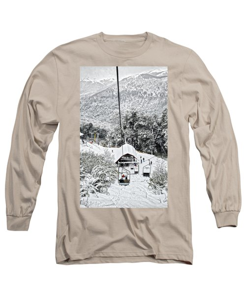 To The Land Of Frozen Dreams In The Argentine Patagonia Long Sleeve T-Shirt