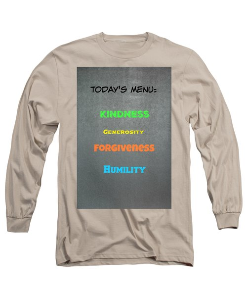 Today's Menu #4 Long Sleeve T-Shirt
