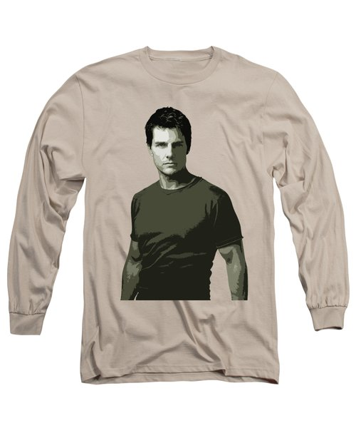 Tom Cruise Cutout Art Long Sleeve T-Shirt