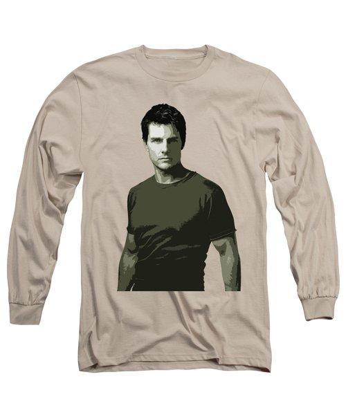 Tom Cruise Cutout Art Long Sleeve T-Shirt