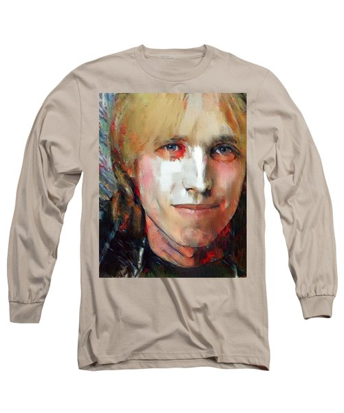 Tom Petty Tribute Portrait 3 Long Sleeve T-Shirt