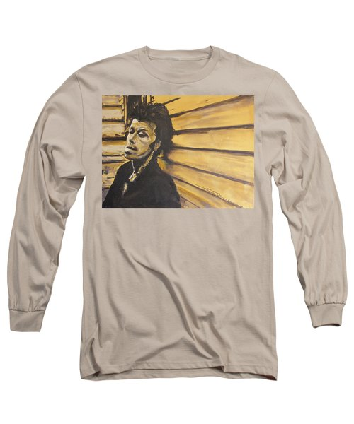 Tom Waits Long Sleeve T-Shirt by Eric Dee