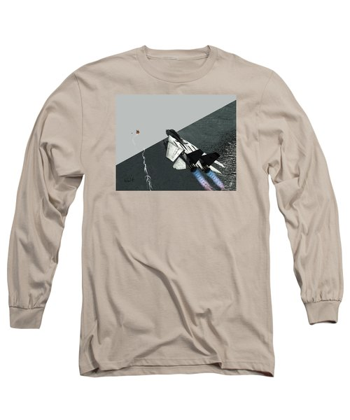 Long Sleeve T-Shirt featuring the digital art Tomcat Kill by Walter Chamberlain