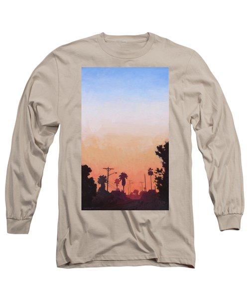 Tonal Hollywood Long Sleeve T-Shirt