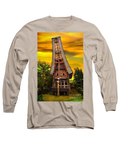Toraja Architecture Long Sleeve T-Shirt
