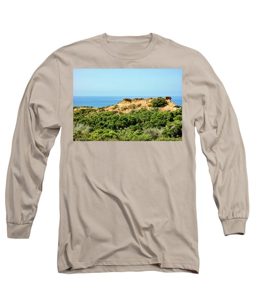 Torrey Pines California - Chaparral On The Coastal Cliffs Long Sleeve T-Shirt