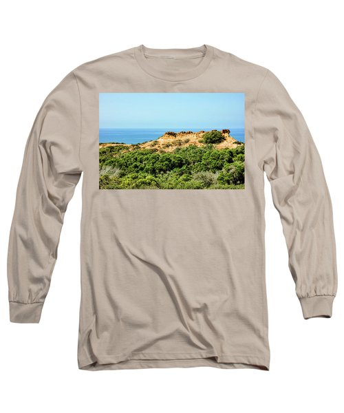 Torrey Pines California - Chaparral On The Coastal Cliffs Long Sleeve T-Shirt