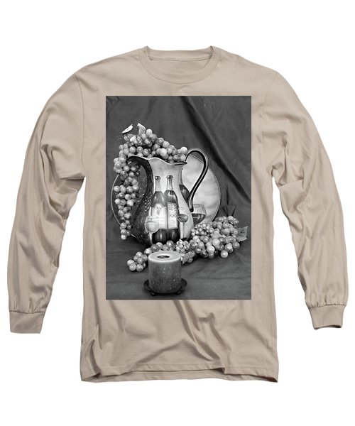 Long Sleeve T-Shirt featuring the photograph Tour Of Italy In Black And White by Sherry Hallemeier