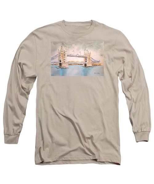 Tower Bridge Long Sleeve T-Shirt by Marilyn Zalatan