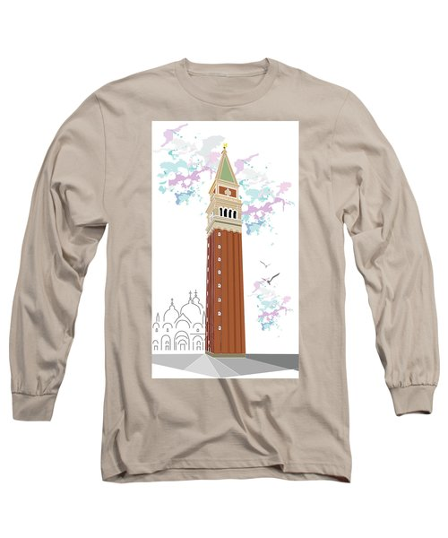 Tower Of Campanile In Venice Long Sleeve T-Shirt