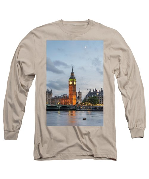 Tower Of London In The Moonlight Long Sleeve T-Shirt