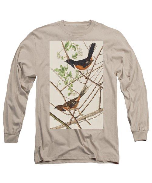 Towhe Bunting Long Sleeve T-Shirt