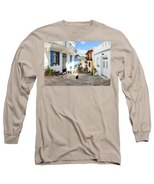 Town Of Skopelos Long Sleeve T-Shirt