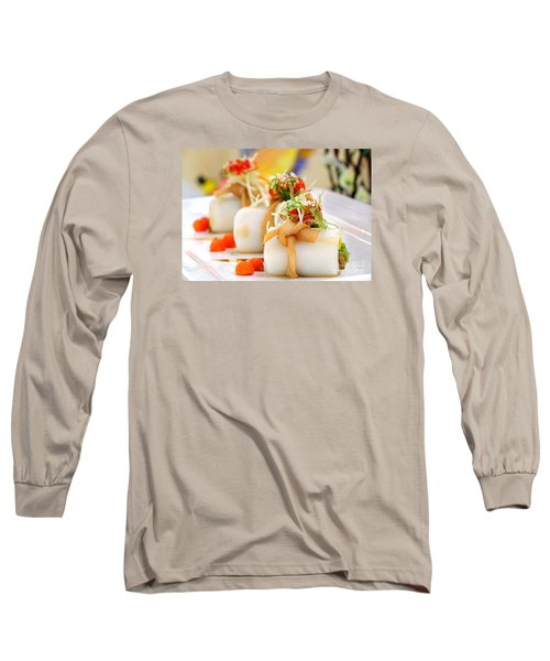Traditional Chinese Hakka Rice Noodle Roll Long Sleeve T-Shirt by Yali Shi