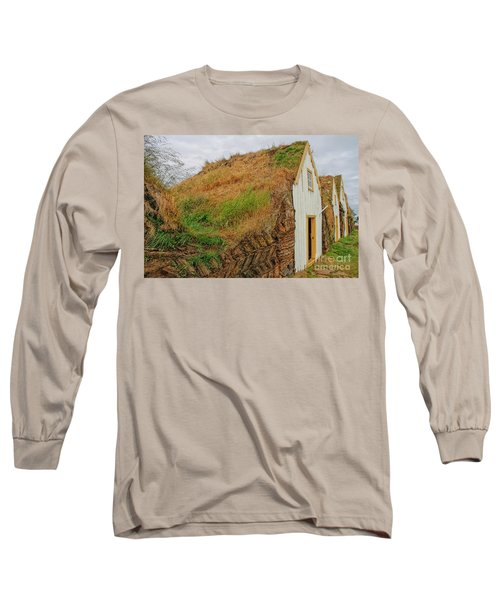 Traditional Turf Houses In Iceland Long Sleeve T-Shirt