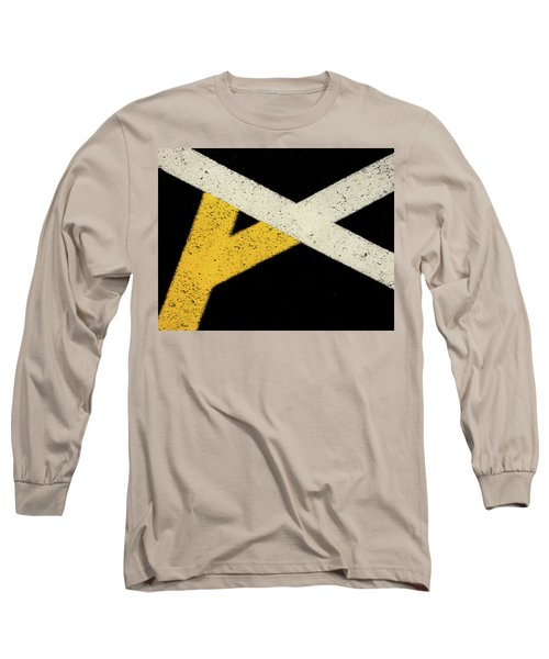 Long Sleeve T-Shirt featuring the photograph Traffic Line Conversion 2 by Gary Slawsky