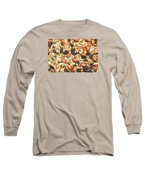 Long Sleeve T-Shirt featuring the photograph Trail Mix Background by Jorgo Photography - Wall Art Gallery